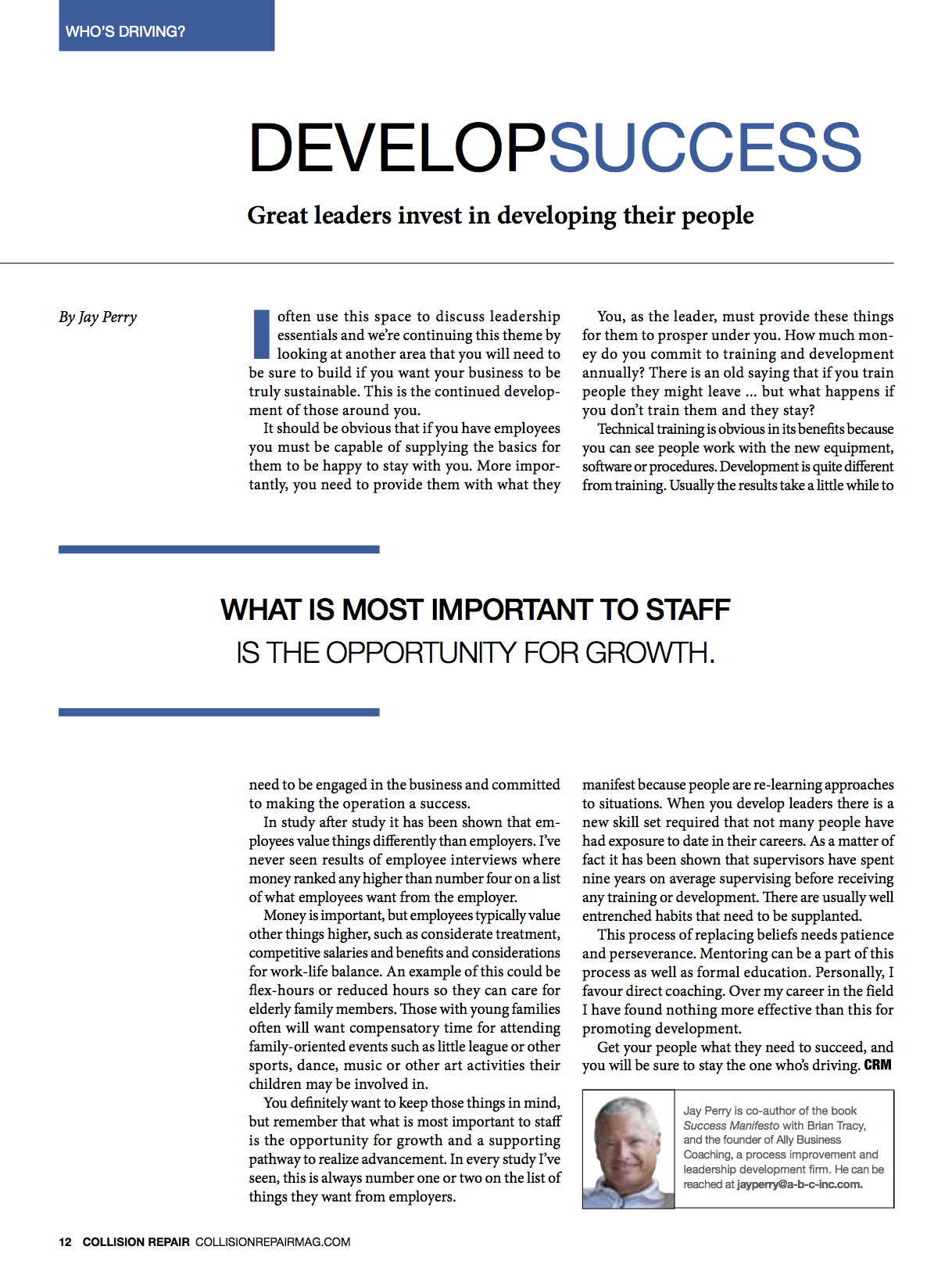 Another Leadership Article Published